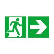 Nødudgangsskilt med pil til højre