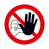 Rundt skilt med adgang forbudt