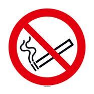 Rundt skilt med rygning forbudt