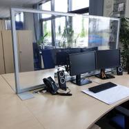 """Skillevæg """"Desk"""" inkl. transparent PVC-banner"""