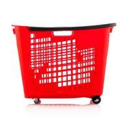 Indkøbskurv, 55 liter med hjul
