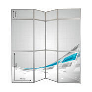 "Foldevæg ""360"" med trykbare paneler"