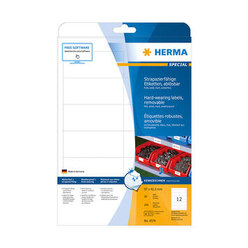 Vejrbestandige folieetiketter, Herma 4572