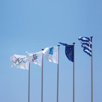 Flag med digitaltryk