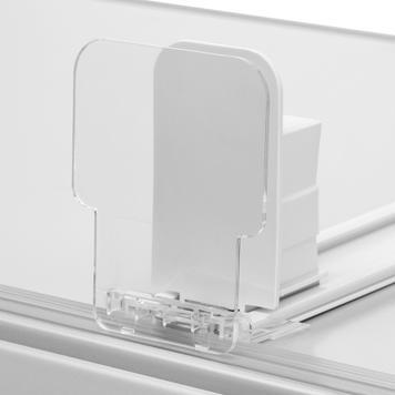 """Vareskubber """"Push VI"""" med produktstopper, bred, 90°"""