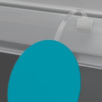 Skiltefjeder PVC glasklar 75 mm