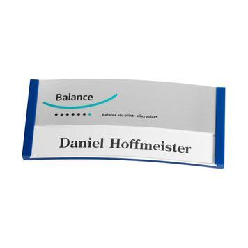 "Navneskilt ""Balance Alu-Print"" inkl. trykomkostninger"