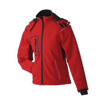 Dame vinter softshell jakke, vandtæt taljeret jakke