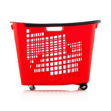 Indkøbskurv, 55 liter, med hjul