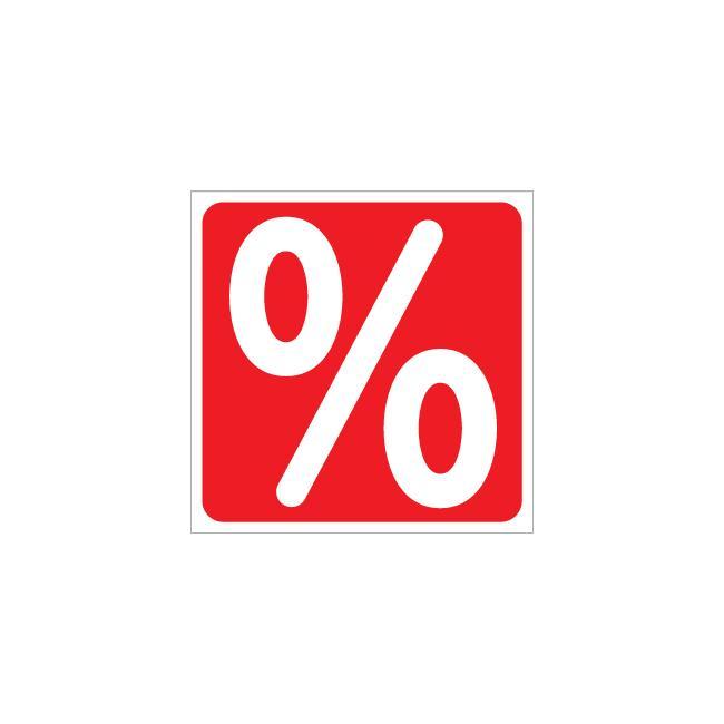 Mærkat procenttegn, firkantet