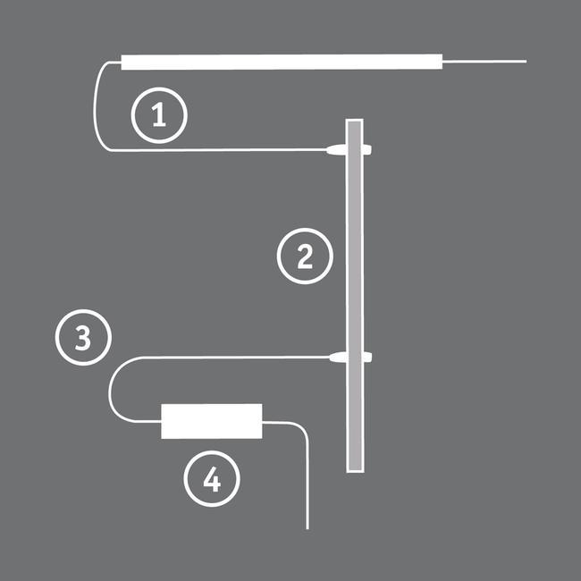LED forbindelsesledning, transformer/strømskinne
