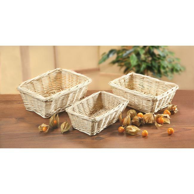 Brød- og frugtkurv, firkantet