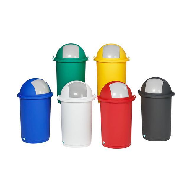 Plastik skraldespand i forskellige farver
