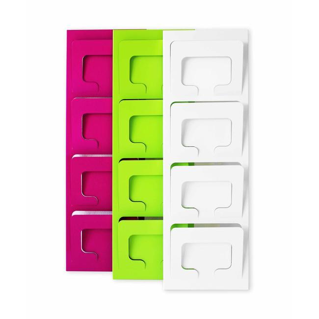"""4 rums brochureholder til væg """"Gaudy"""" DIN A4 landskab"""