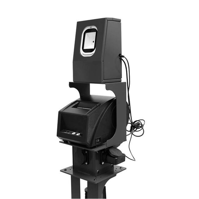 Stregkode scanner med printer til afspærringsstander