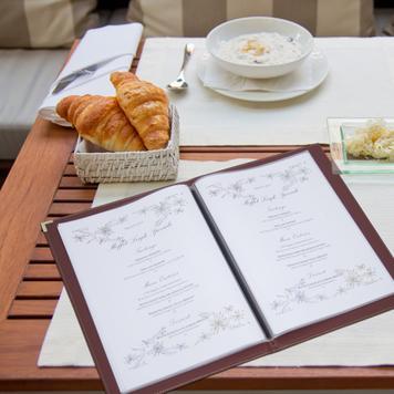 Indlægsark til menukort