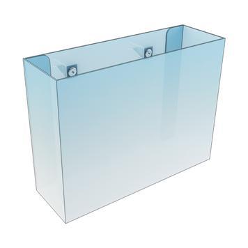 Brochureholder til glas- og træhylde