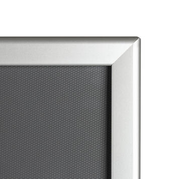 Klikramme, 32 mm profil, geringshjørner, sølvanodiseret