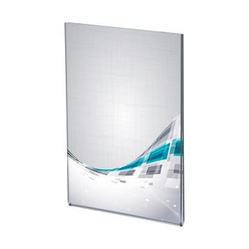 Akrylglaslomme krystalklar DIN A6 med tape