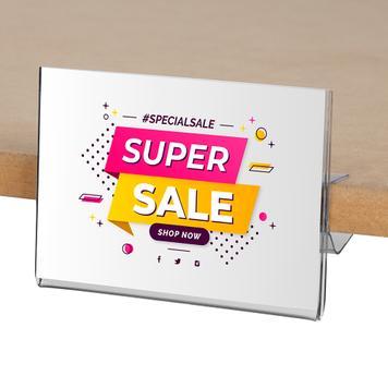 Prisskilteholder til gulvreol 105 x 74 mm