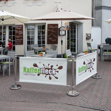 """Banner til afspærringssystem """"Café"""""""