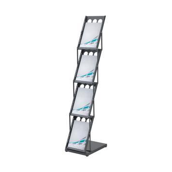 """Foldbar brochurestander """"Punzar I"""" i stål"""
