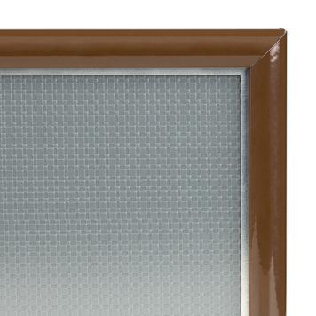 Klikramme, 15 mm profil, geringshjørner, sølv anodiseret