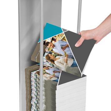 Katalogstander med pulthylde