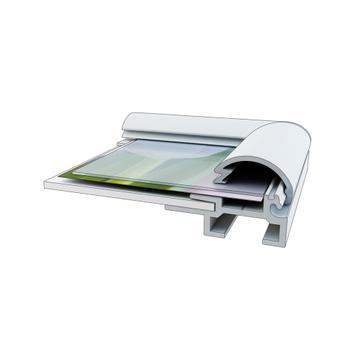 Klikramme, 15 mm profil, geringshjørner, sølvanodiseret