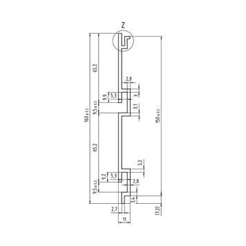 Rillepanel FlexiSlot®-profil i individuelle længder